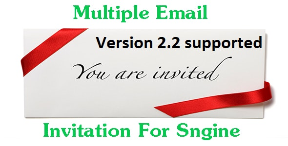 Multiple Email Invitation For Sngine - CodeCanyon Item for Sale