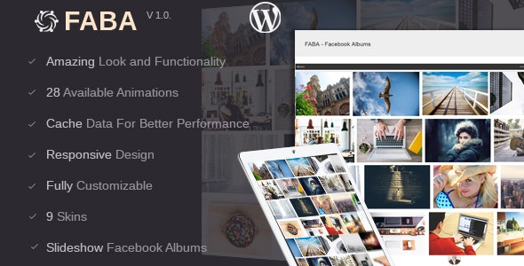 FABA - Facebook Albums And Photos Gallery For WordPress - CodeCanyon Item for Sale