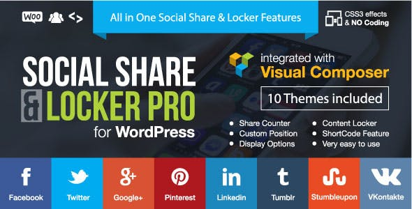 Social Share & Locker Pro Wordpress Plugin        Nulled
