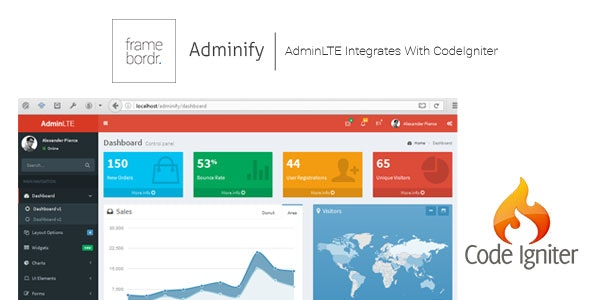 Adminify - AdminLTE Integrated With CodeIgniter + User