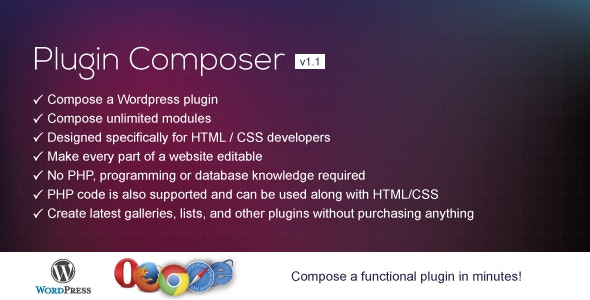Plugin Composer for WordPress - CodeCanyon Item for Sale