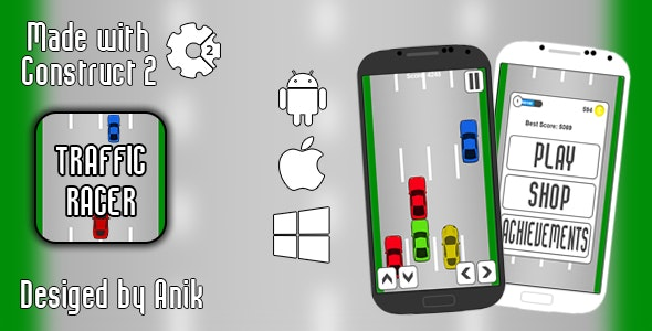 Traffic Racer - HTML5 Game (CAPX) - CodeCanyon Item for Sale