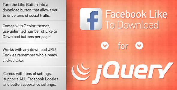 Facebook Like to Download jQuery