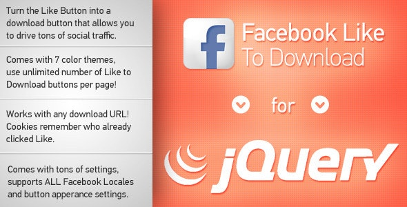 Facebook Like to Download jQuery - CodeCanyon Item for Sale