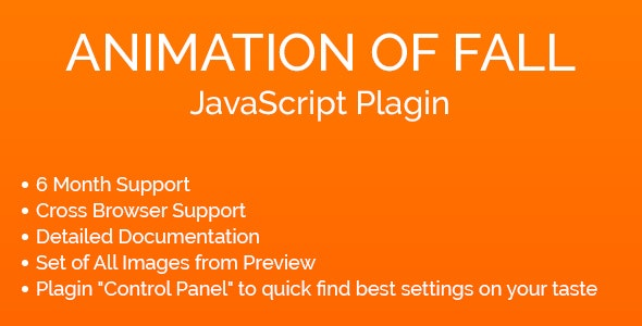 Animation of Fall JavaScript Plugin - CodeCanyon Item for Sale