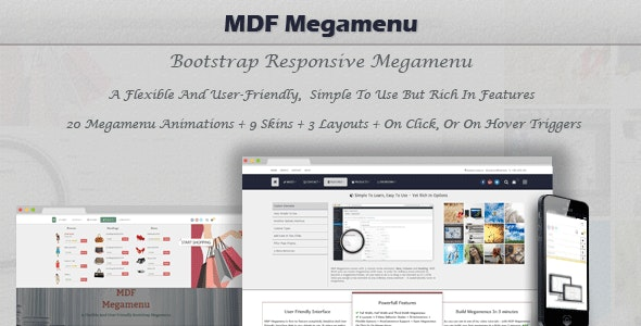 MDF Megamenu - Bootstrap Responsive WordPress Megamenu - CodeCanyon Item for Sale