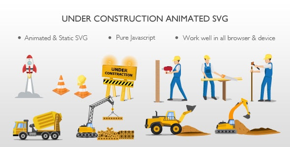 Under Construction Animated SVG