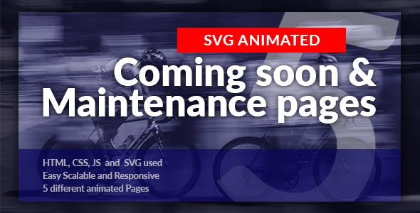 Animated Coming Soon & Maintenance Pages