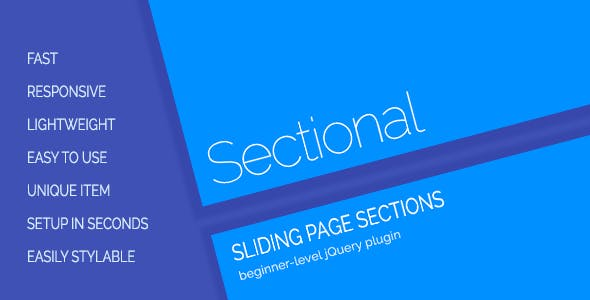 Sectional - Sliding Page Sections