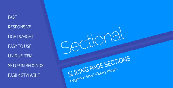 Sectional - Sliding Page Sections - CodeCanyon Item for Sale