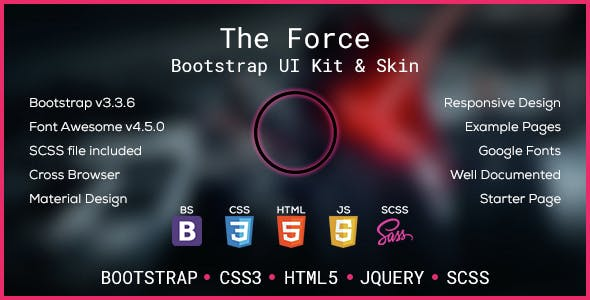 The Force - Bootstrap Skin & UI Kit