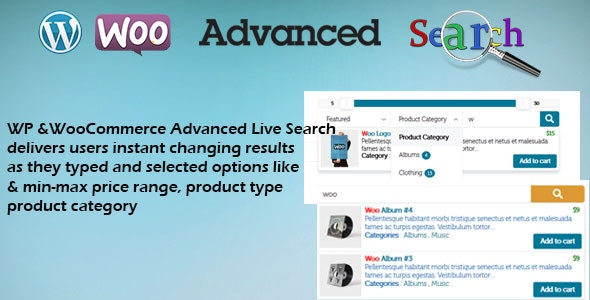 WP & Woocommerce Advanced Live Search - CodeCanyon Item for Sale