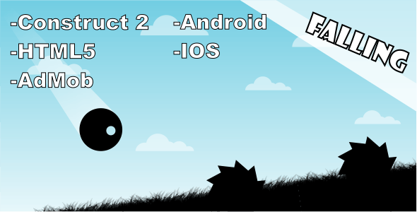 Falling - HTML5 Mobile Game - CodeCanyon Item for Sale