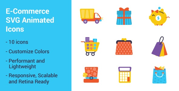 E-commerce SVG Animated Icons - CodeCanyon Item for Sale