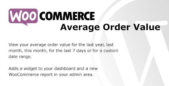 WooCommerce Average Order Value - CodeCanyon Item for Sale