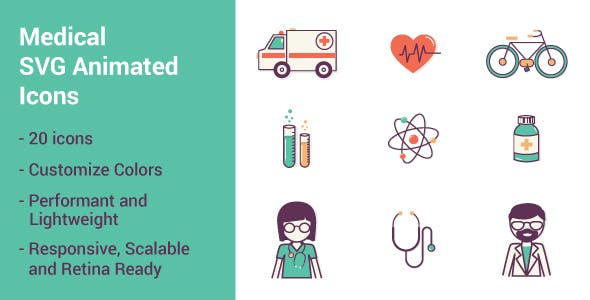 Medical SVG Animated Icons