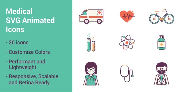Medical SVG Animated Icons - CodeCanyon Item for Sale