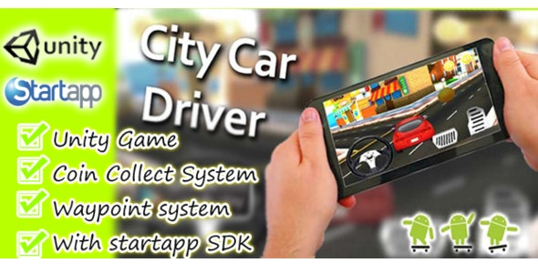 City Car Driver -Unity3D and Startapp - CodeCanyon Item for Sale