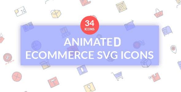 Ecommerce Animated SVG icon set
