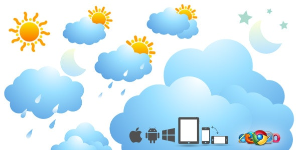 16 SVG Weather Icons - Animation Loops - CodeCanyon Item for Sale