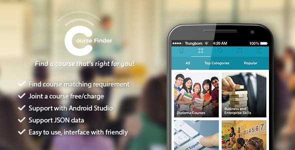 CourseFinder - Social network of course (android)
