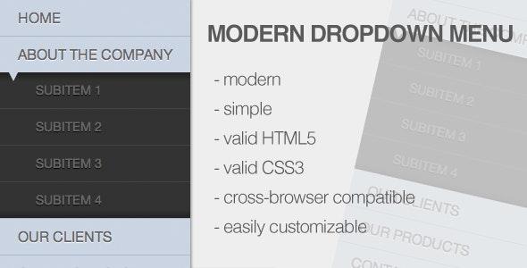 Modern Dropdown Menu - CodeCanyon Item for Sale