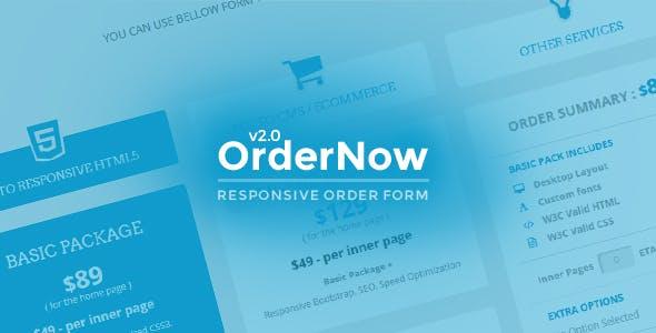 OrderNow - Responsive Order Form