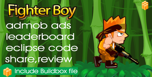 fighter boy- Buildbox Game Template + Android Eclipse Project Template Included