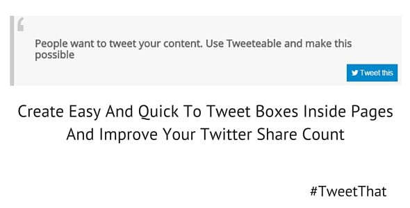 Tweeteable for Joomla - A quix addon element