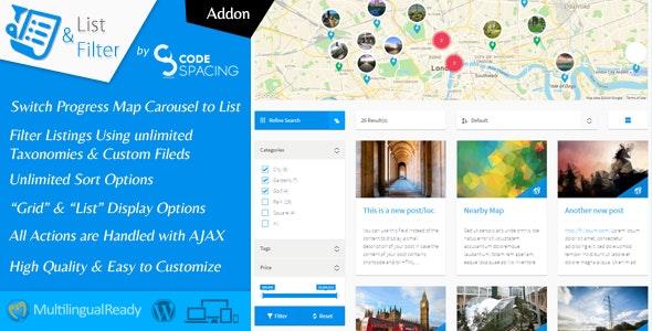 Progress Map, List & Filter - WordPress Plugin - CodeCanyon Item for Sale