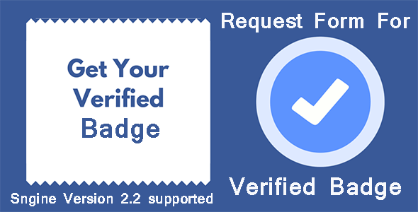 Request Form For Verified Badge For Sngine - CodeCanyon Item for Sale