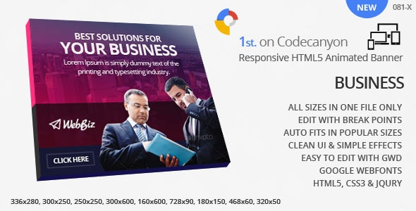 Responsive Business - HTML5 ad banners - CodeCanyon Item for Sale