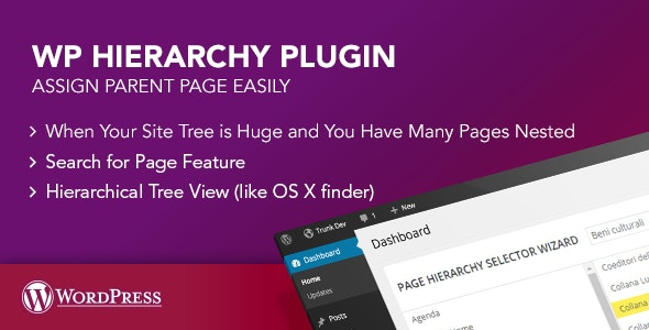 WP Hierarchy Page Plugin - CodeCanyon Item for Sale