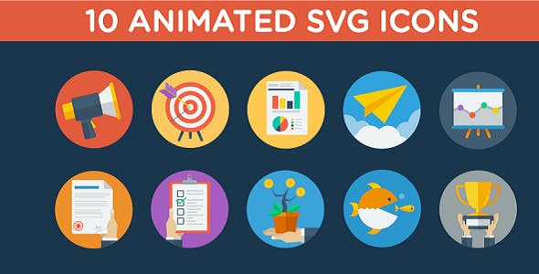Animated SVG Business Strategy Icons