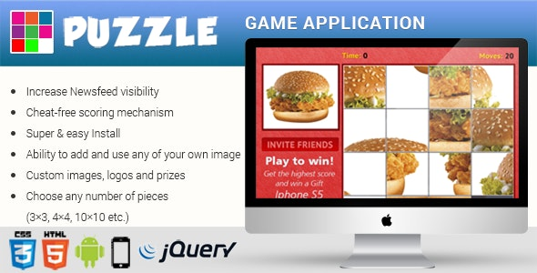 Premium -  HTML5 Puzzle Game App - CodeCanyon Item for Sale