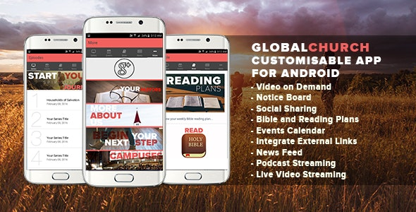 Church App - Full Android App - CodeCanyon Item for Sale