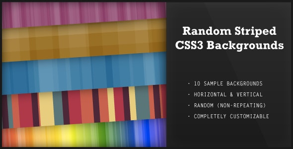 Random Striped CSS3 Backgrounds - CodeCanyon Item for Sale