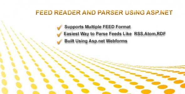 Feed Reader For RSS,ATOM and RDF using Asp.net