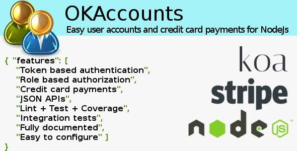 OKAccounts for NodeJS - CodeCanyon Item for Sale