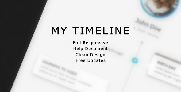 My Timeline - The Personal Timeline  - CodeCanyon Item for Sale
