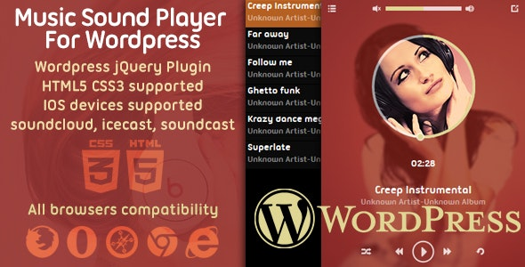 Music Player Plugin For Wordpress - CodeCanyon Item for Sale