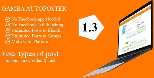 Gamba Facebook Friends and Groups Autoposter v1.4