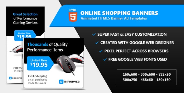 Online Shopping Store Banners - HTML5 Ad Templates - CodeCanyon Item for Sale