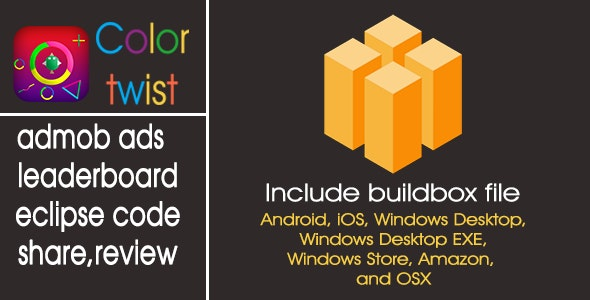 Color twist -Only Buildbox Game Template - CodeCanyon Item for Sale