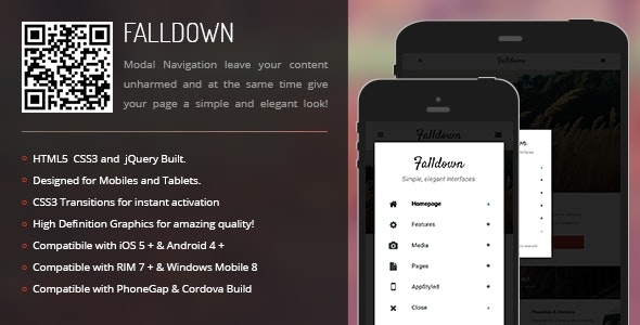 FallDown | Modal Menu for Mobiles & Tablets - CodeCanyon Item for Sale