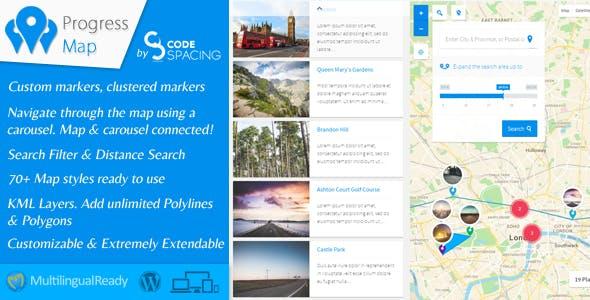 Progress Map Wordpress Plugin        Nulled