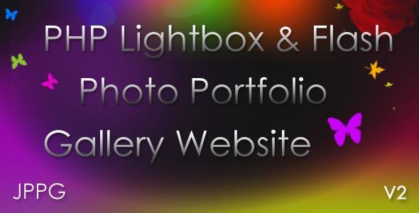 JYH PHP Lightbox Flash Portfolio Gallery v2