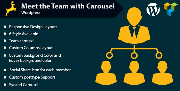 Meet the Team with Carousel for WordPress - CodeCanyon Item for Sale