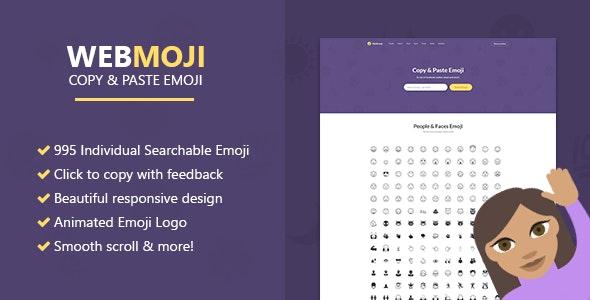 WebMoji - Searchable, Copy & Paste Emoji Directory - CodeCanyon Item for Sale
