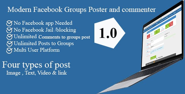 Modern Facebook Groups Poster and commenter